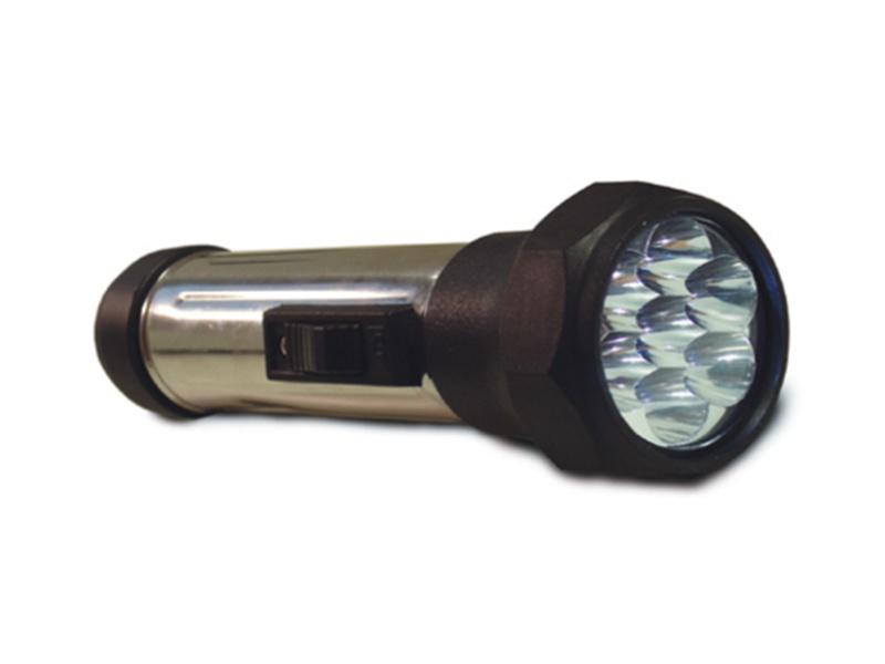 BATERKA svítilna  7LED, černá
