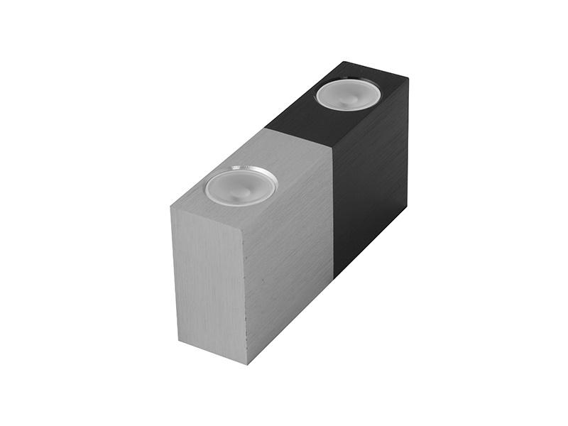 VARIO DUO dekorativní LED svítidlo  černo-stříbrná (aluminium) - teplá bílá