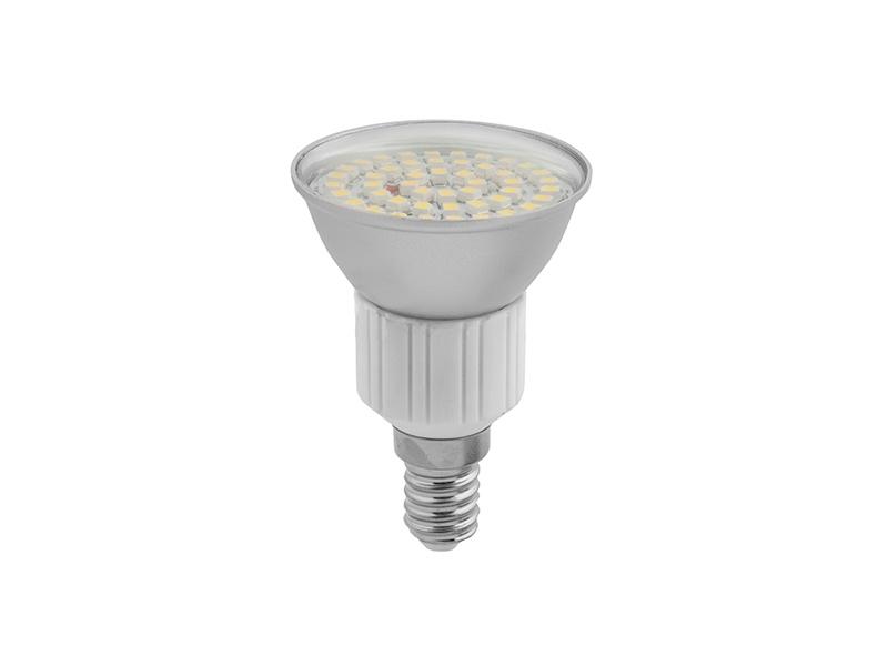 SMD 48LED světelný zdroj 230V 3,5W E14, hliník  studená bílá