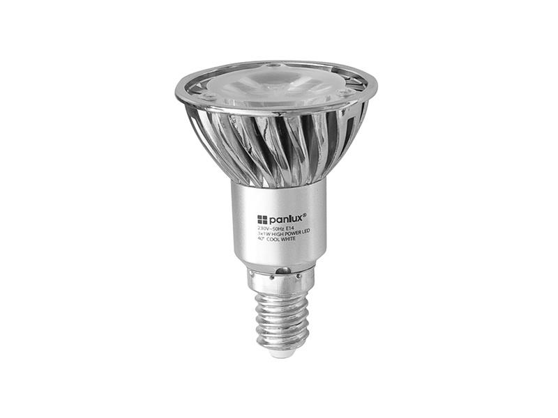 HIGH POWER 3LED světelný zdroj  230V 3,6W E14 - studená bílá
