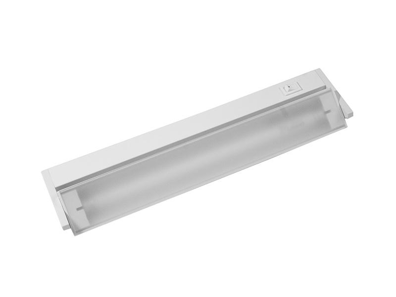 VERSA výklopné zářivkové nábytkové svítidlo s vypínačem pod kuchyňskou linku  8W, bílá