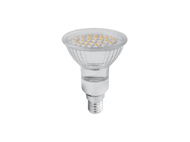 SMD 48LED světelný zdroj 230V 3,5W  E14 - teplá bílá