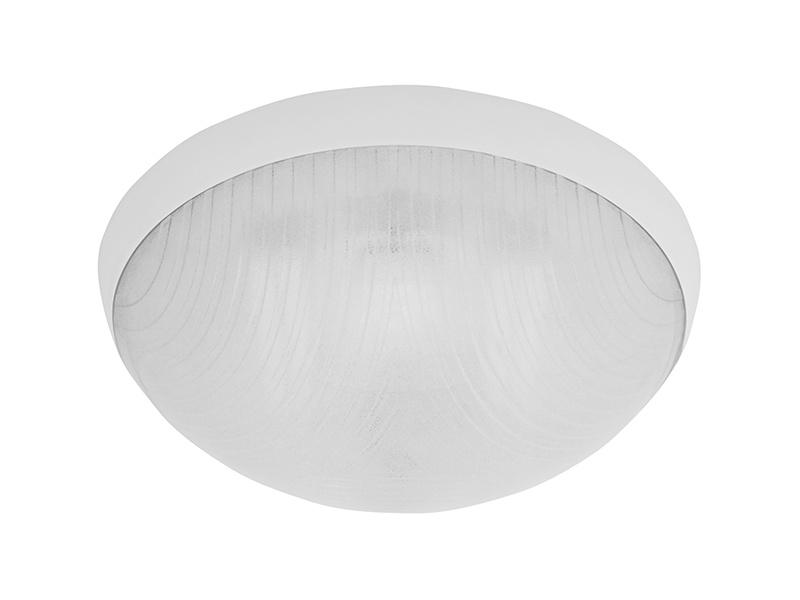 GALIA přisazené stropní a nástěnné kruhové svítidlo  75W E27, bílá, transp.