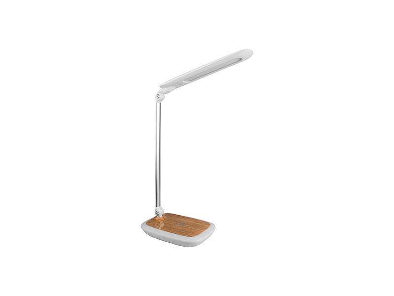 PANLUX DIPLOMAT stolní lampička s integrovanou bezdrátovou nabíječkou, světlé dřevo