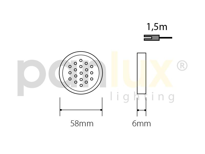 DEKORA 1 dekorativní LED svítidlo, bílá  modrá