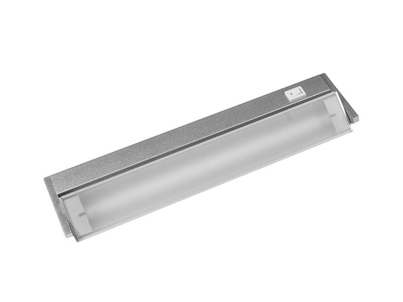 VERSA výklopné zářivkové nábytkové svítidlo s vypínačem pod kuchyňskou linku  8W, stříbrná
