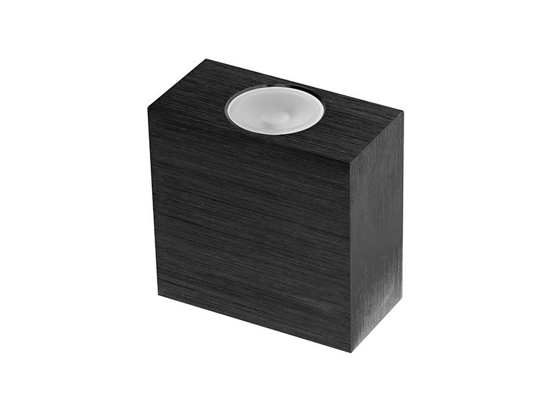 VARIO DOUBLE dekorativní svítidlo 2LED  černá (aluminium) - studená bílá