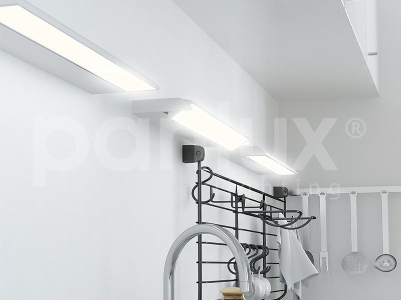 VERSA výklopné zářivkové nábytkové svítidlo s vypínačem pod kuchyňskou linku  21W, stříbrná