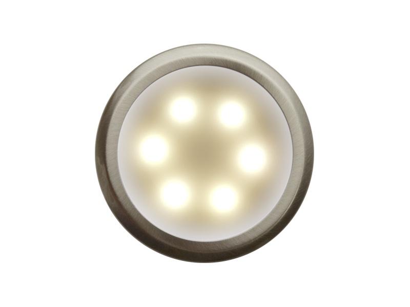 DEKORA 3 dekorativní LED svítidlo  nerez - teplá bílá