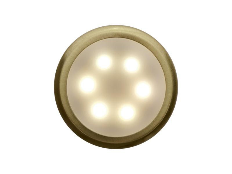 DEKORA 3 dekorativní LED svítidlo  zlatá - teplá bílá