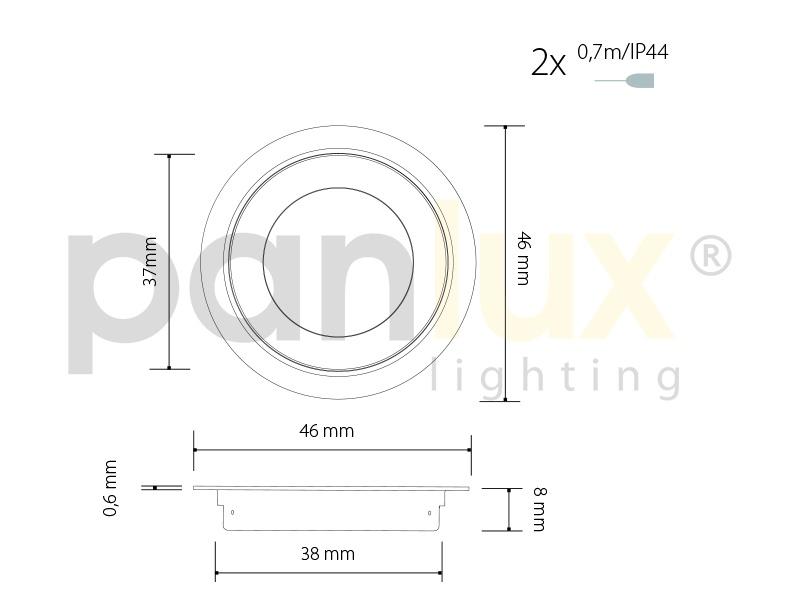 STEP podlahové LED svítidlo, stříbrná  teplá bílá