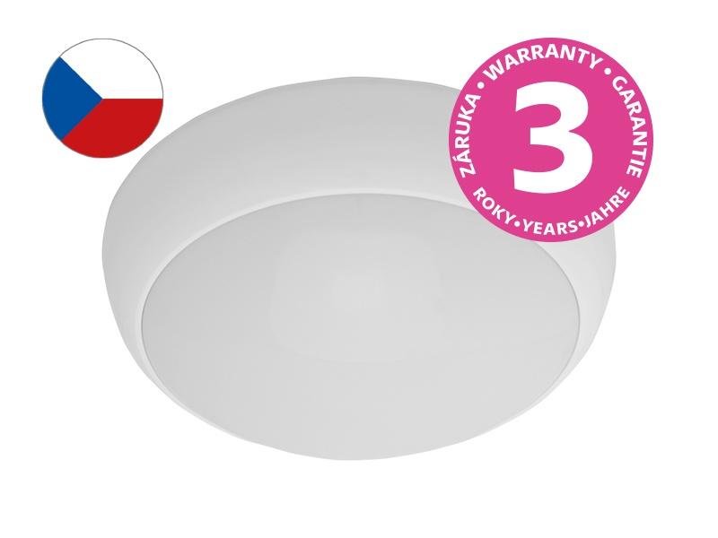JUPITER MAT přisazené stropní a nástěnné kruhové svítidlo  100W E27, bílá, mat