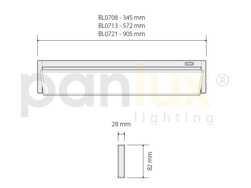VERSA výklopné zářivkové nábytkové svítidlo s vypínačem pod kuchyňskou linku  21W, bílá
