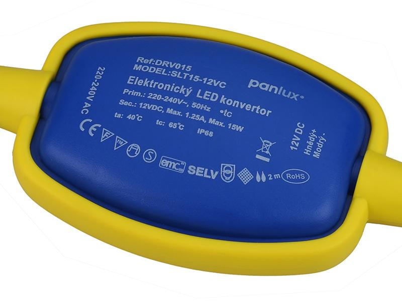 PANLUX LED DRIVER VODOTĚSNÝ 15W 12V DC