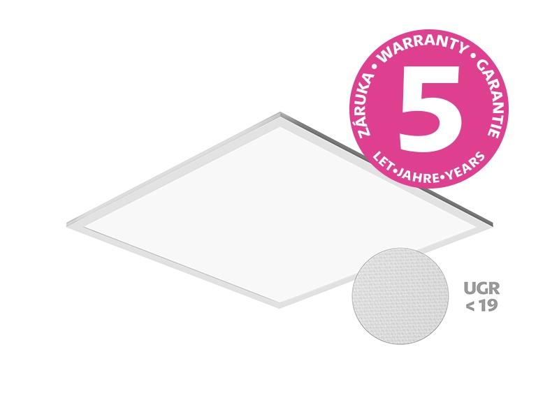 LED PANEL THIN UGR vestavný čtvercový 600x600 40W - neutrální