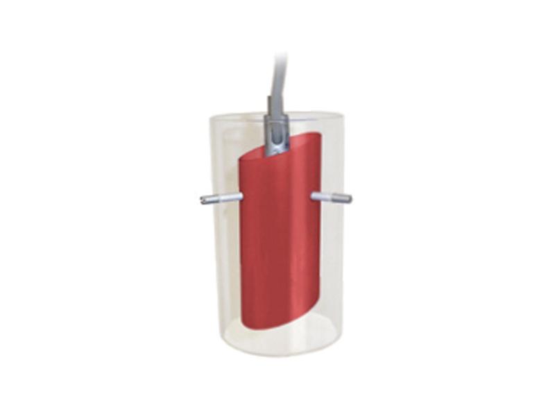 TUBO nastavitelné lištové svítidlo, červená