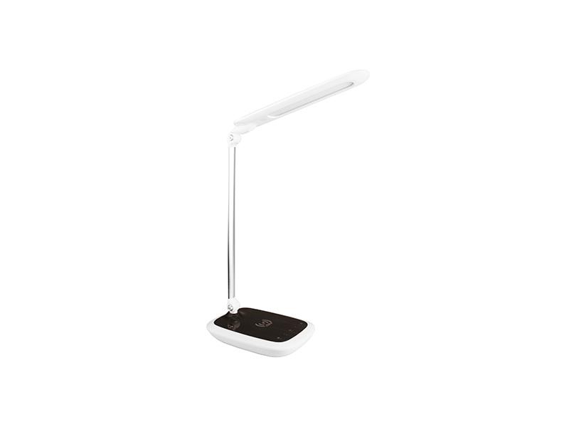 PANLUX DIPLOMAT stolní lampička s integrovanou bezdrátovou nabíječkou, tmavé dřevo