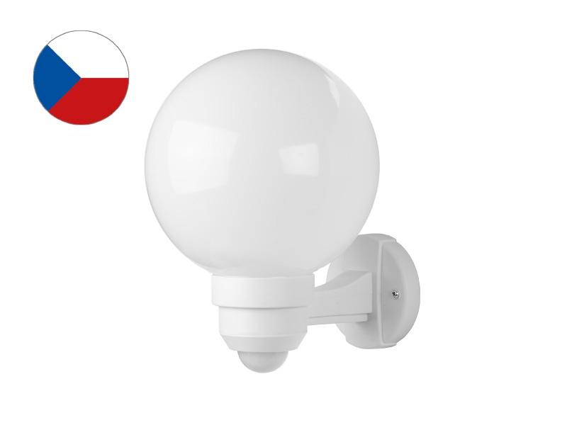PANLUX PARK S zahradní nástěnné svítidlo na zeď se senzorem  bílá - mléčná