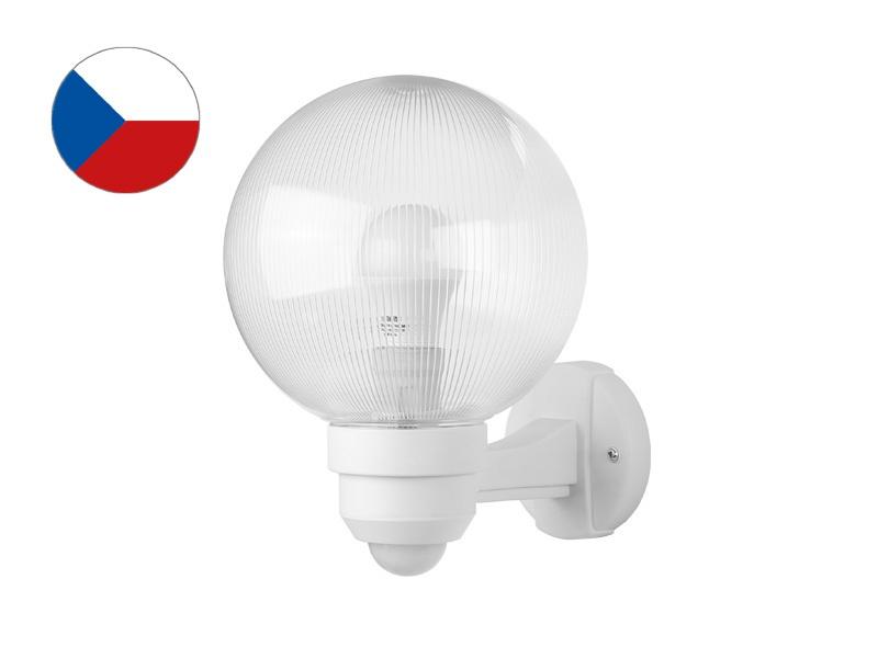 PANLUX PARK S zahradní nástěnné svítidlo na zeď se senzorem  bílá - prizmatická