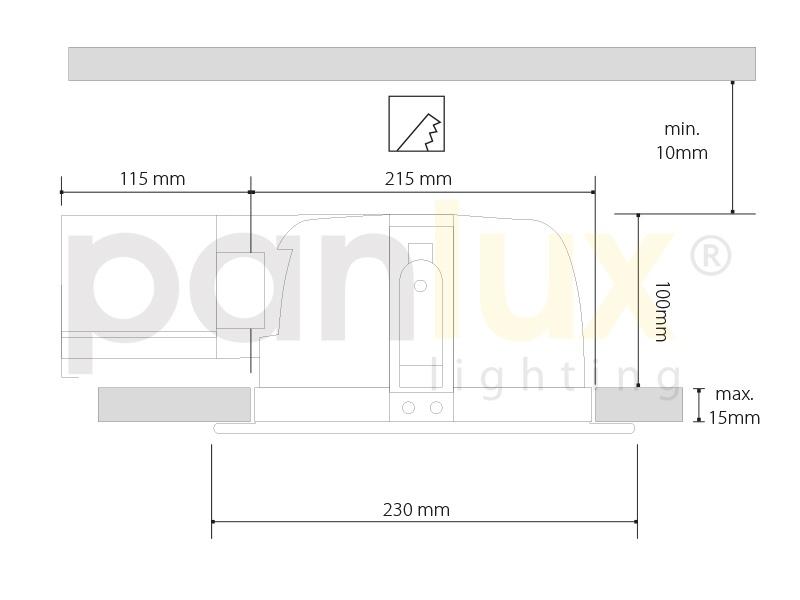 DOWNLIGHT DWH VVG 2x18W zářivkové podhledové svítidlo  2x18W, bílá
