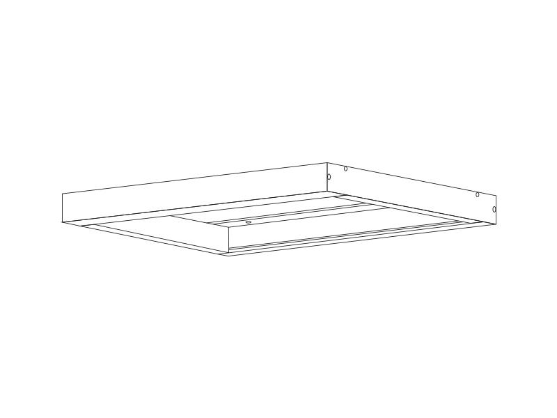 KOVOVÝ RÁM 600x600 pro přisazenou montáž vestavných LED panelů
