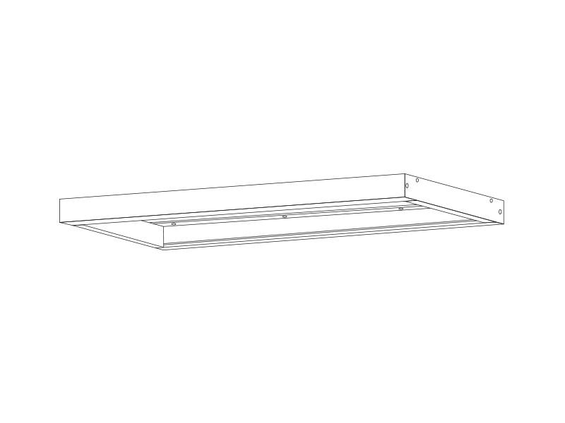 KOVOVÝ RÁM 1200x300 pro přisazenou montáž vestavných LED panelů