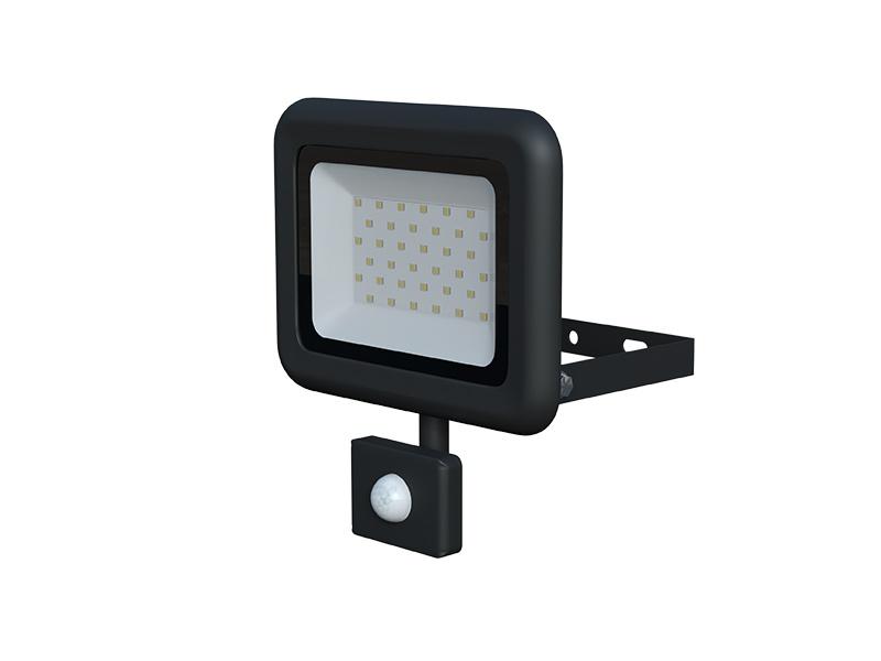 LEDMED VANA SMD S LED reflektor se senzorem 30W černá