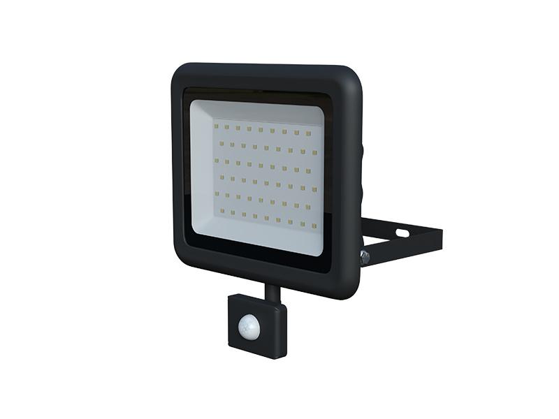 LEDMED VANA SMD S LED reflektor se senzorem 50W černá