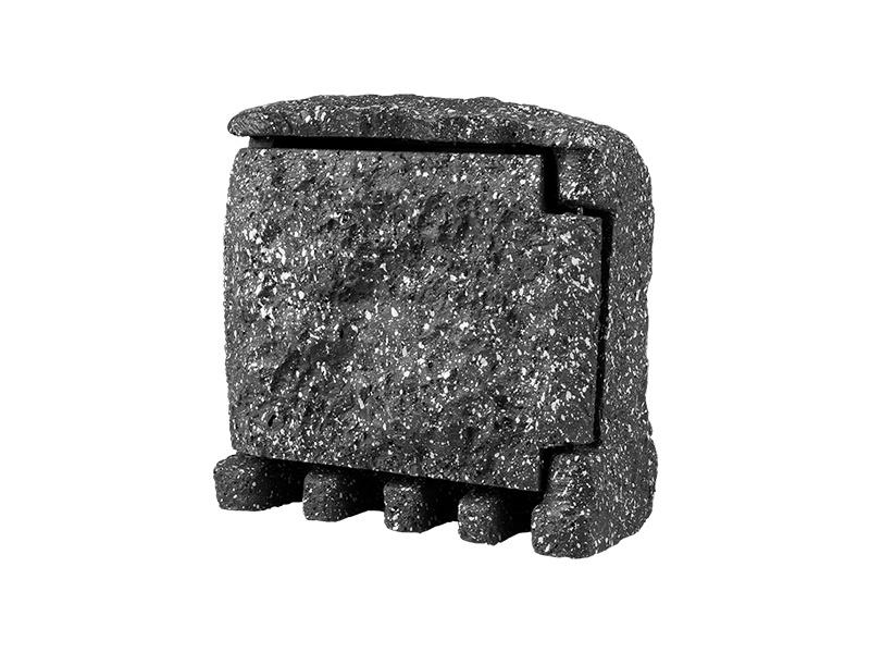 STONE 4Z zahradní elektro- kámen (4x zásuvka, s přívodním kabelem) - šedá