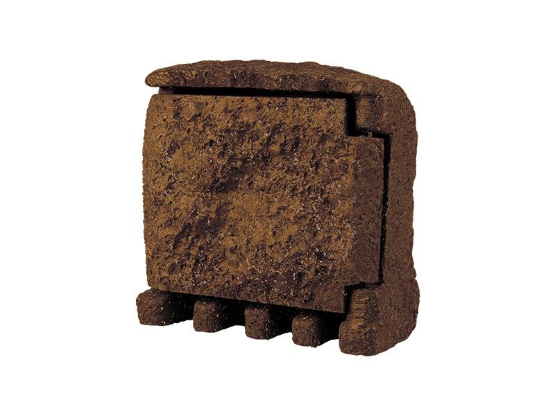 STONE 4Z zahradní elektro- kámen (4x zásuvka, s přívodním kabelem) - hnědá